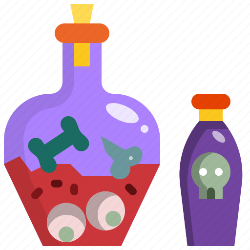 bottle, chemistry, drink, halloween, poison, research icon