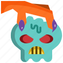 claw, face, halloween, head, horror, monster, skull icon