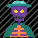 avatar, bone, captain, halloween, man, pirate, skull icon