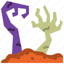 corpse, graveyard, halloween, hand, horror, scary, zombie icon