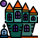 architecture, building, castle, creepy, ghost, halloween, house icon