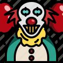 avatar, circus, clown, halloween, horror, joker, monster icon