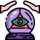 ball, crystal, fortune, halloween, predict, teller icon