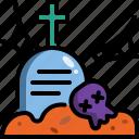 cross, dead, death, graveyard, halloween, tombstone icon
