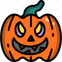 decoration, face, halloween, head, monster, pumpkin, smile icon