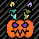candle, decoration, halloween, head, lamp, light, pumpkin icon