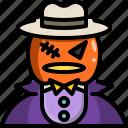 avatar, creepy, halloween, horror, man, monster, pumpkin icon