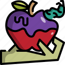 apple, fruit, give, halloween, hand, poison, rotten icon