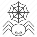 halloween, net, spider icon