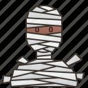 avatar, halloween, monster, mummy, spooky icon