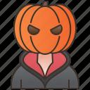avatar, halloween, horror, monster, pumpkin icon