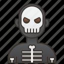 avatar, halloween, monster, skeleton, spooky icon