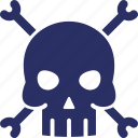 bones, cranium skull, halloween skull, skeleton, skull icon