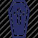 coffin, funeral coffin, graveyard, halloween casket, mummy icon