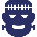 halloween, horror, monster head, scary icon