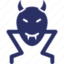 devil face, halloween mask, spooky face, vampire icon