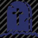 cemetery, grave, graveyard, halloween, tomb icon