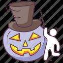 calabaza pumpkin, carved pumpkin, halloween pumpkin, magician pumpkin, pumpkin face icon