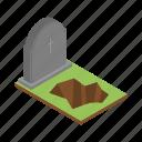 tomb, cartoon, isometric, grave, rip, stone, rest icon
