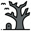 dead, hallween, scary, tomb, tree