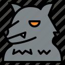 hallween, horror, scary, werewolf icon