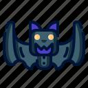 bat, blood, fangs, halloween, vampire icon
