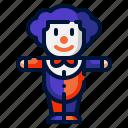 circus, clown, costume, halloween, man