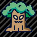 beast, halloween, mascot, monster, tree