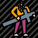 avatar, christian, cross, exorcist, man