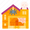 celebration, haunted, house, scary, spooky icon
