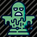 blob, devil, halloween, monster, slime icon