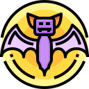 terror, scary, bat, halloween, fear icon