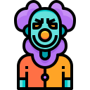 scary, fear, halloween, horror, clown icon