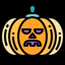 tear, spooky, horror, halloween, pumpkin