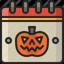 time, halloween, schedule, date, day, festival, calendar