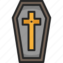 coffin, dead, funeral, death, wooden, halloween, tomb