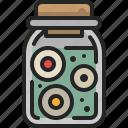 body, container, part, jar, eye