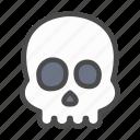 skull, skeleton, head, death, dead, halloween