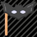 bat mask, face mask, halloween mask, eye prop, party prop icon