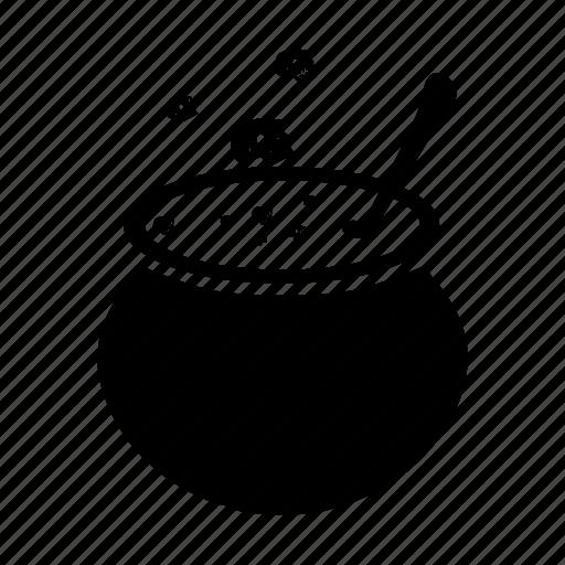 bowl, cauldron, dead, death, halloween, skull, soup icon