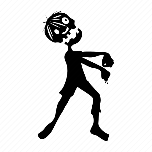 afraid, bite, corpse, crisis, dead, death, following, halloween, horror, hunting, infection, man, monster, silhouette, terror, virus, walker, walking, zombie icon