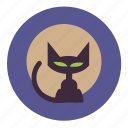scary, eye, cat, halloween, spooky, creepy, face icon