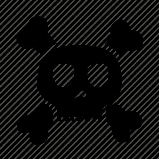 bone, danger, dangerous, halloween, skull icon