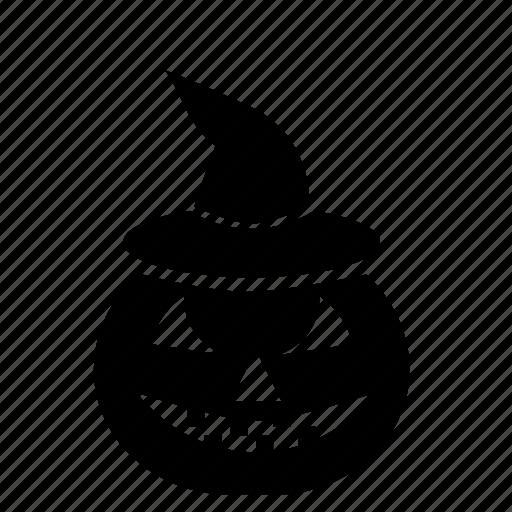 halloween, hat, pumpkin, witch icon