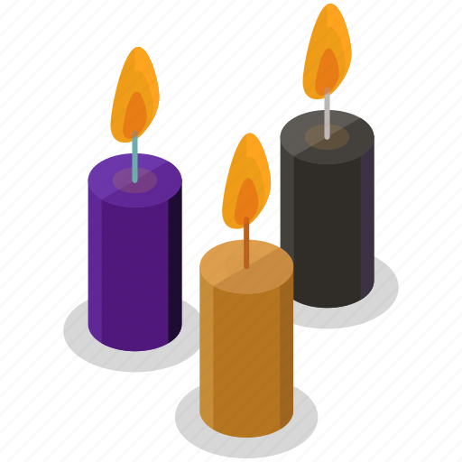 candles, decoration, halloween, horror, light, scary, spooky icon