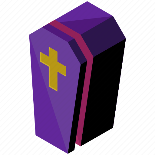 casket, coffin, death, halloween, horror, scary, spooky icon