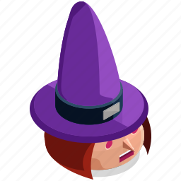 halloween, head, horror, scary, spooky, witch icon