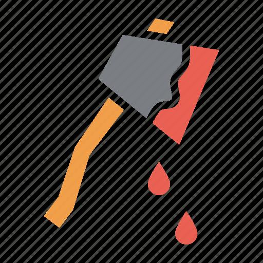 axe, blood, halloween, hatchet, horror, killer, murder icon