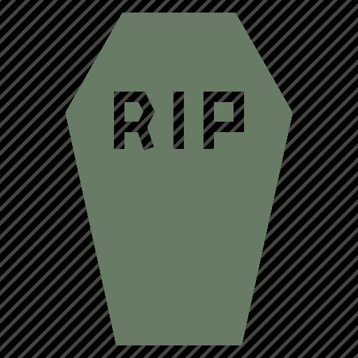 Casket, coffin, death, funeral, halloween, rip icon - Download on Iconfinder
