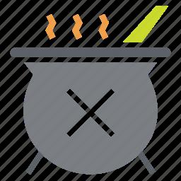 cauldron, halloween, magic, poison, potion, stew, witchcraft icon